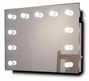 Miroir Avec Lumière Pour Maquillage : miroir de maquillage hollywood vestiaire avec lampes led ~ Zukunftsfamilie.com Idées de Décoration
