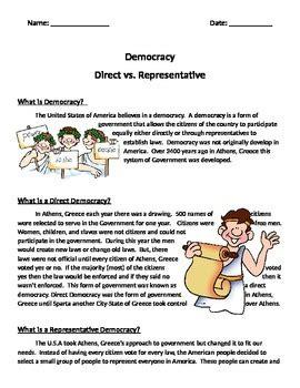 direct democracy vs representative democracy by brandi