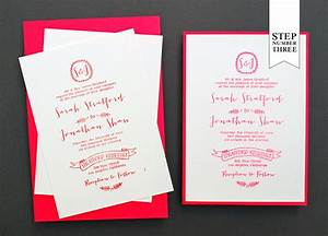 diy tutorial neon kraft paper wedding invitations With heat embossed wedding invitations
