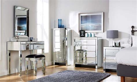 mirrored bedroom furniture groupon goods