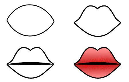 drawing cartoon lips