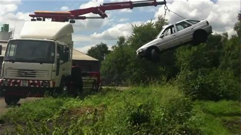 volvo fl accident unit hiab recovery youtube