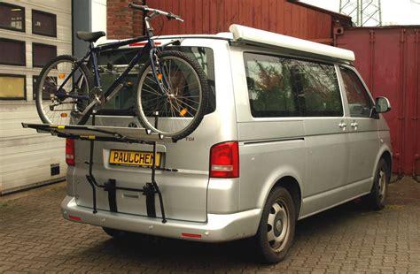 fahrradträger vw t5 fahrradtr 228 ger f 252 r vw t5 paulchen hecktr 228 ger system