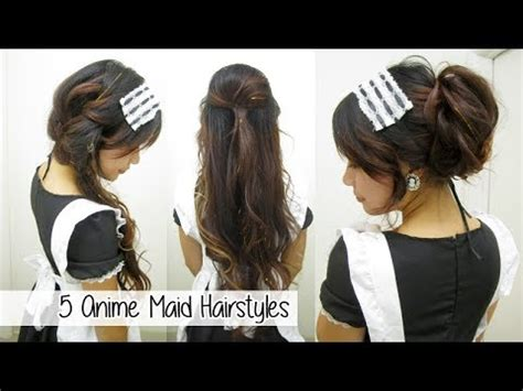 anime maid hairstyles  quick cute easy hairstyles