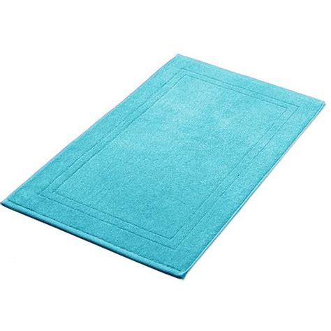 tapis de bain bleu turquoise  cm grm la compagnie du blanc