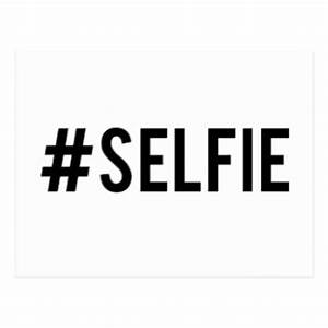 Hash tag selfie word art text design for t-shirt post cards