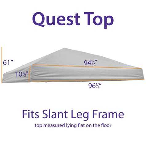 outdoor ez pop   canopy replacement top quest canopy slant leg ceh ebay