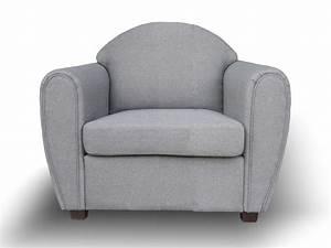 Fauteuil Gris Clair : fauteuil club tissu gris clair western ~ Teatrodelosmanantiales.com Idées de Décoration
