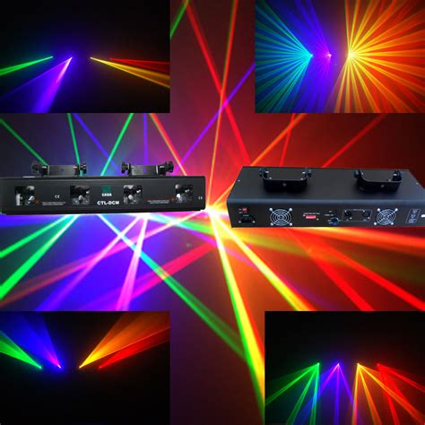 dj laser lights rgyv 4 lens 360mw dmx dj laser stage light club