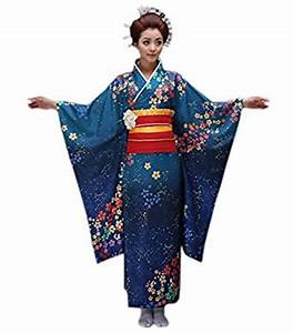 Amazon.com: YueLian Women Kimono Robe Traditional Japanese ...