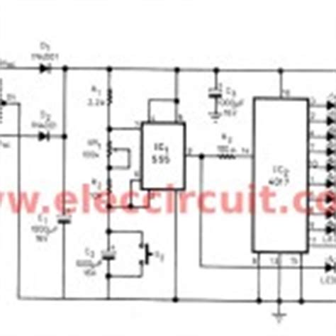 christmas light chaser circuit led chaser circuit by ic 4017 ic 555 eleccircuit com