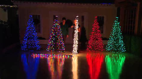 light up outdoor trees christmas pre lit 6 39 fold flat outdoor christmas tree by lori