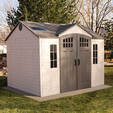 sams sheds lifetime 10 x 8 outdoor storage shed with carriage doors