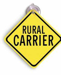 rural carrier car window sign With rural letter carrier signs