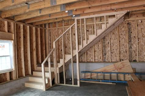 detached garage  attic trusses