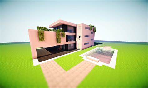 minecraft modern house render