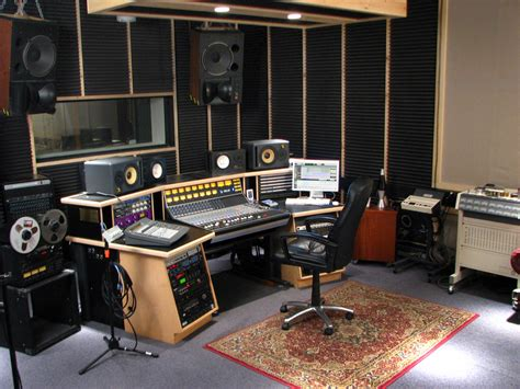 setting   semi professional recording studio setting