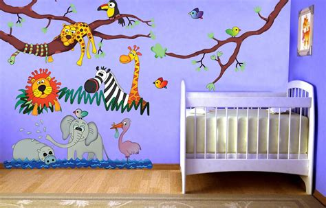 stickers chambre de bebe jungle theme wall stickers peenmedia com