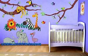 jungle theme wall stickers peenmediacom With decoration chambre bebe theme jungle