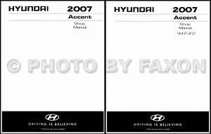 2007 Hyundai Accent Service Repair Shop Manual Set 07 2 Volume Set Electrical Wiring Diagram