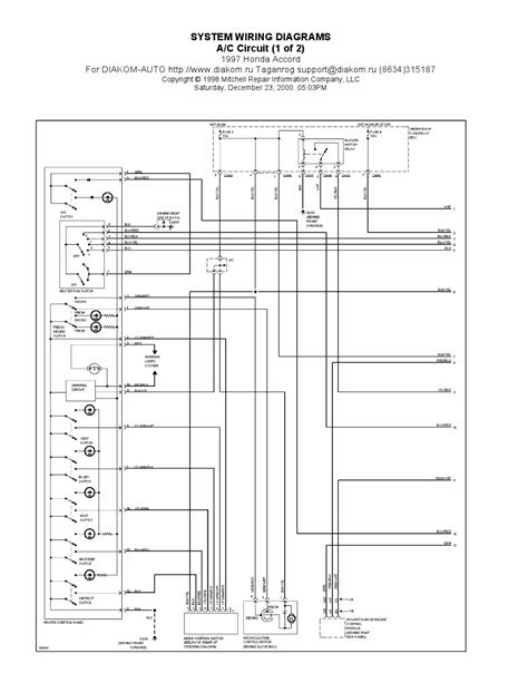 1997 Honda Accord A/C Circuits System Wiring Diagrams