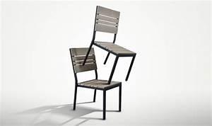 Chaise Bois Pas Cher : 2 chaises de jardin bois composite brooklyn mobilier jardin pas cher ~ Teatrodelosmanantiales.com Idées de Décoration