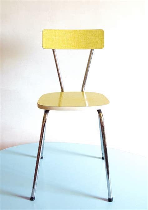 cuisine vintage formica chaise vintage formica jaune