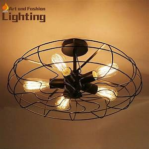 Good quality most popular loft bird cage ceiling fan led