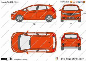 Honda Fit  Us  Vector Drawing
