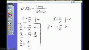 Chemie Dichte Berechnen : die dichte umstellen der formel youtube ~ Themetempest.com Abrechnung