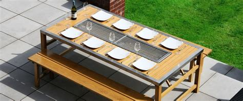 gas barbecue table all in one self sufficient culture