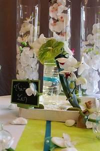Centre De Table Mariage : centre de table mariage th me zen turquoise vert anis ~ Melissatoandfro.com Idées de Décoration