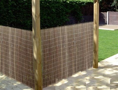 willow screening fence  gardens balconies