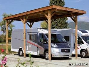 Carport Camping Car : carport camping car en bois d 39 pic a 340 x 760 x h 370 cm ~ Melissatoandfro.com Idées de Décoration