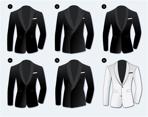 Different Tuxedo Jackets For Black