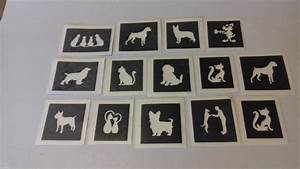 10 - 100 cats & dogs themed mini small stencils for