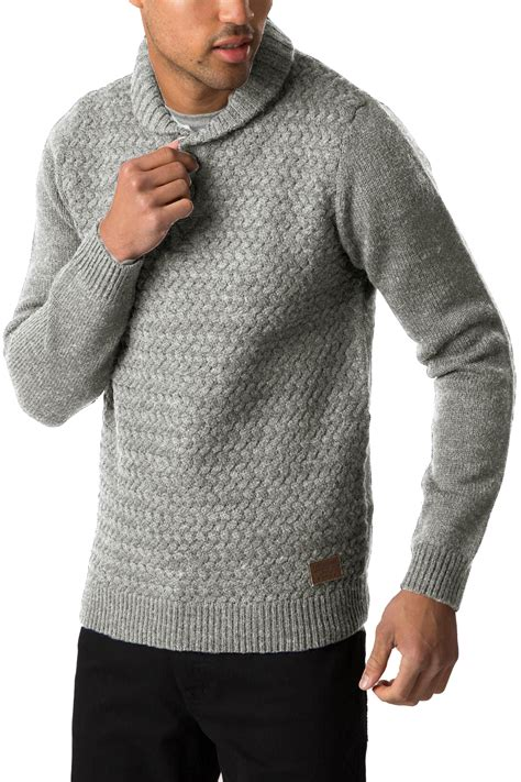 mens chunky knit sweater threadbare mens sweater oslo shawl neck jumper chunky
