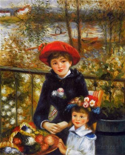 renoir two on the terrace two on the terrace renoir