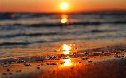 Sun Background Sunset Screen Water Wallpapers Sea