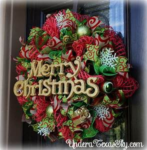 Christmas Deco Mesh Wreath Instructional Tutorial