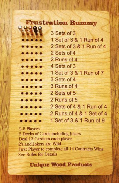 games  game accessories frustration rummy boards