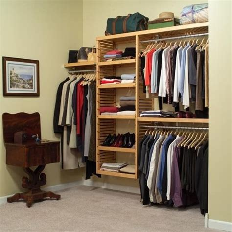 louis home deluxe closet system in maple or mahogany