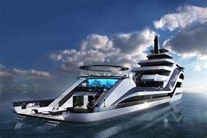 Yacht De Luxe Interieur : le selazzio le superyacht d 39 icon yacht avec une piscine cran g ant ~ Dallasstarsshop.com Idées de Décoration