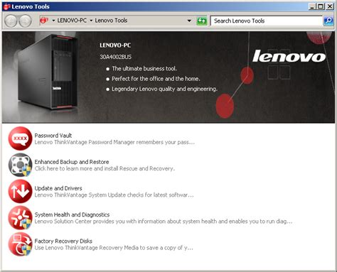 The traditional model of course is to package driver updates through configmgr and update them on machines using dism or depend on vendor supplied utilities. BIOS and Software - The Lenovo ThinkStation P900 ...