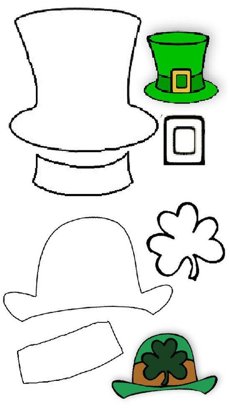 Leprechaun Hat Template Printable by Leprechaun Hats And St On