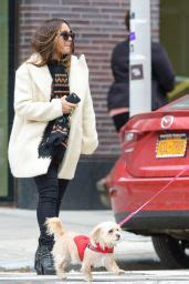 Vanessa Hudgens Playing With Her Dog in New York City ...