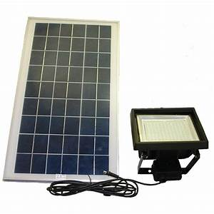 Solar goes green black smd led outdoor flood