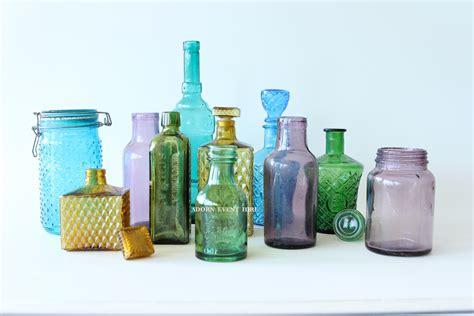 vintage jars coloured vintage bottles and jars
