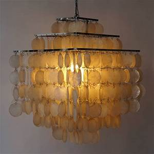 Capiz shell chandelier by verner panton at stdibs