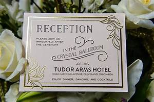 1920s style wedding karen robert deco weddings With wedding invitations bluewater